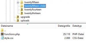 Die zwei wichtigen Datei eines Child-Themes