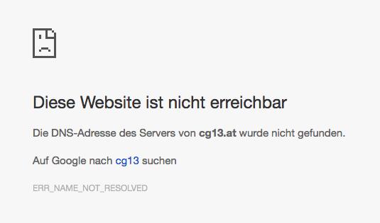 Fehler wenn dein Blogname nicht gefunden wird.