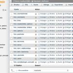 Die Tabellen der mySQL-Datenbank in phpMyAdmin