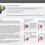 Standardseite des WebSpace vom Hoster, solange noch kein Blog installiert ist.