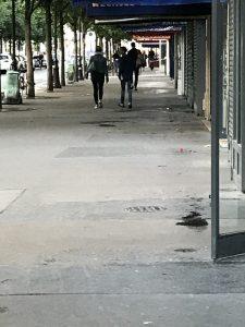 Die rue d'Arcole ist nach dem Anschlag wie ausgestorben