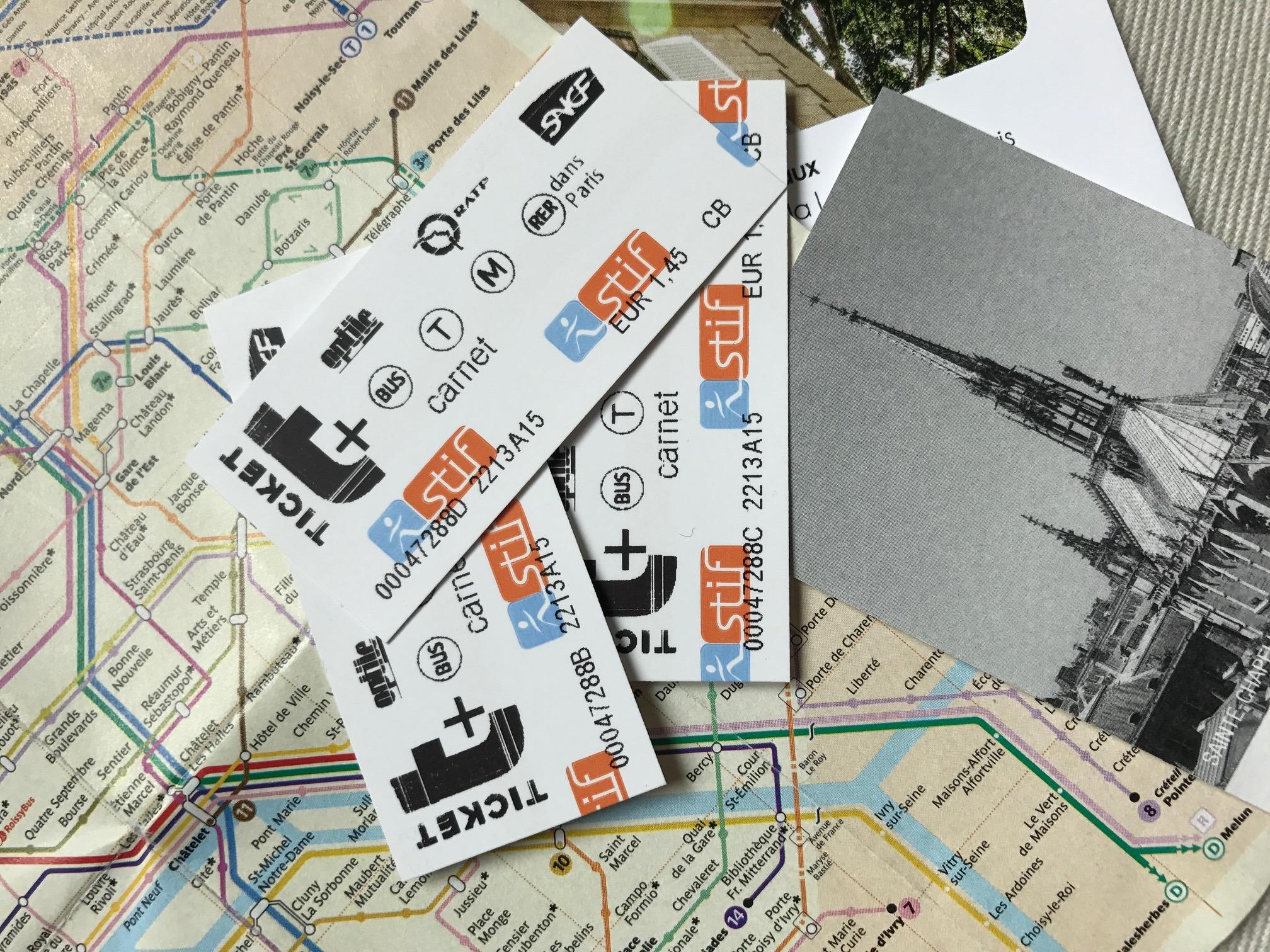 Ticket t+ für Einzelfahrten mit Métro, Straßenbahn oder Bus in Paris