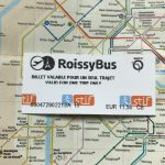 Ticket für eine Fahrt mit dem RoissyBus vom Flughafen Charles-de-Gaulle zur Oper in Paris