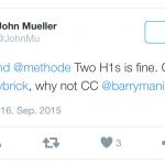 John Mueller (Google) auf Twitter über das Verwenden der h1-Elemente