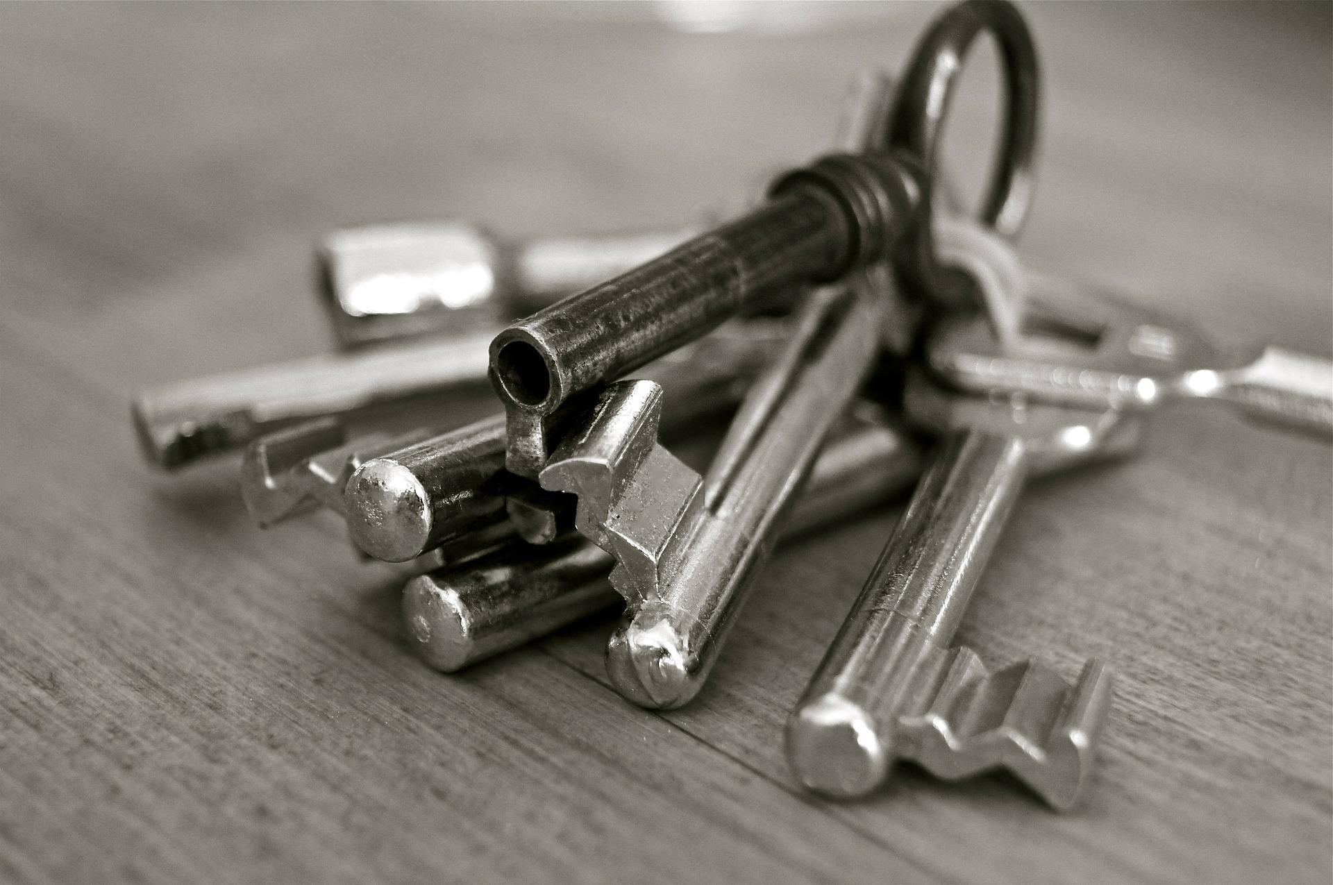 Nur wer den Schlüssel hat, kommt hier rein!