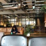 Lounge im Kapselhotel