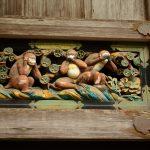 Die 3 berühmten Affen im Toshogu-Schrein in Japan