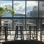 Ausblick aus dem Coworking-Space im 8. Stock