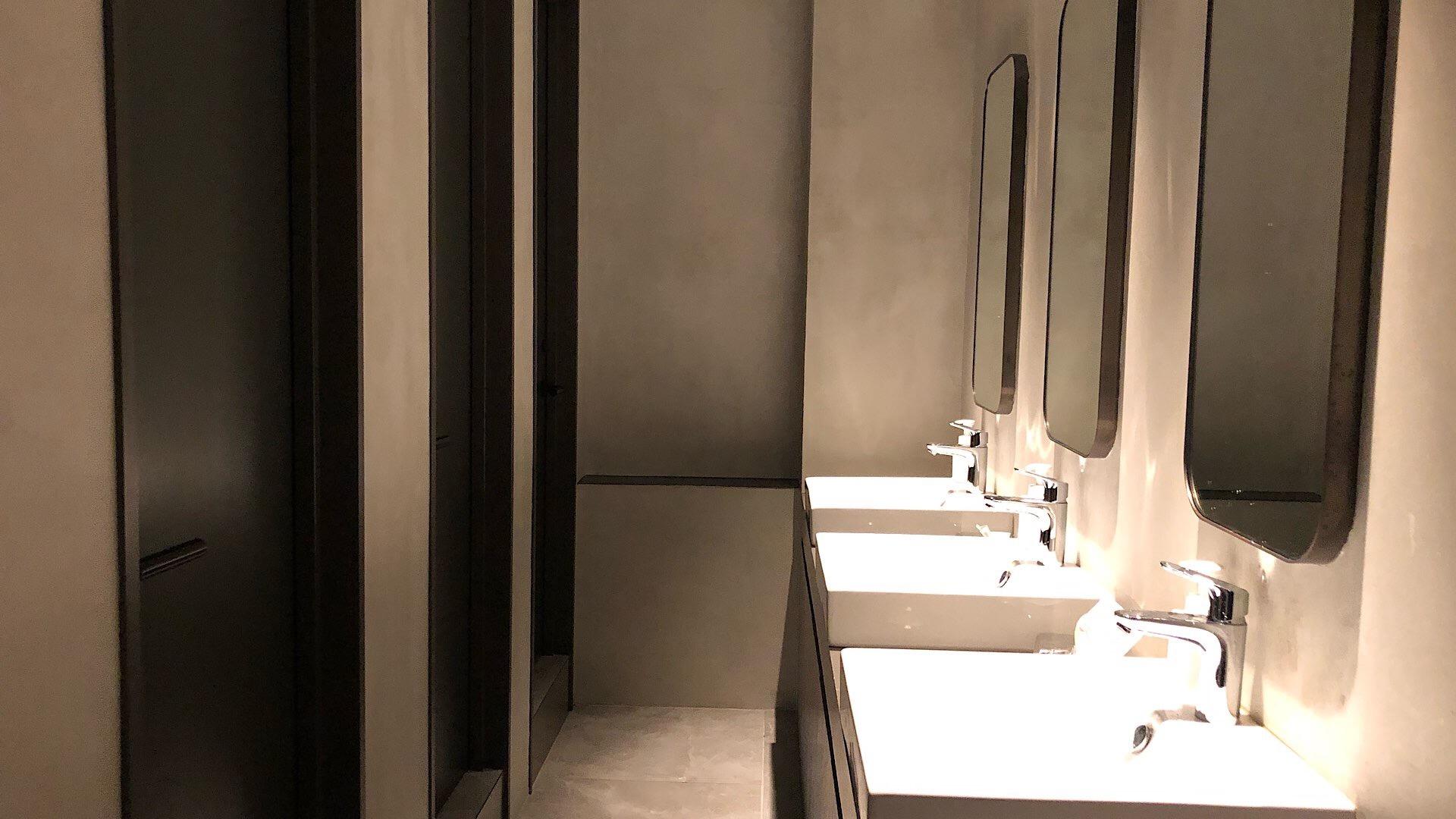 Waschraum im Kapselhotel