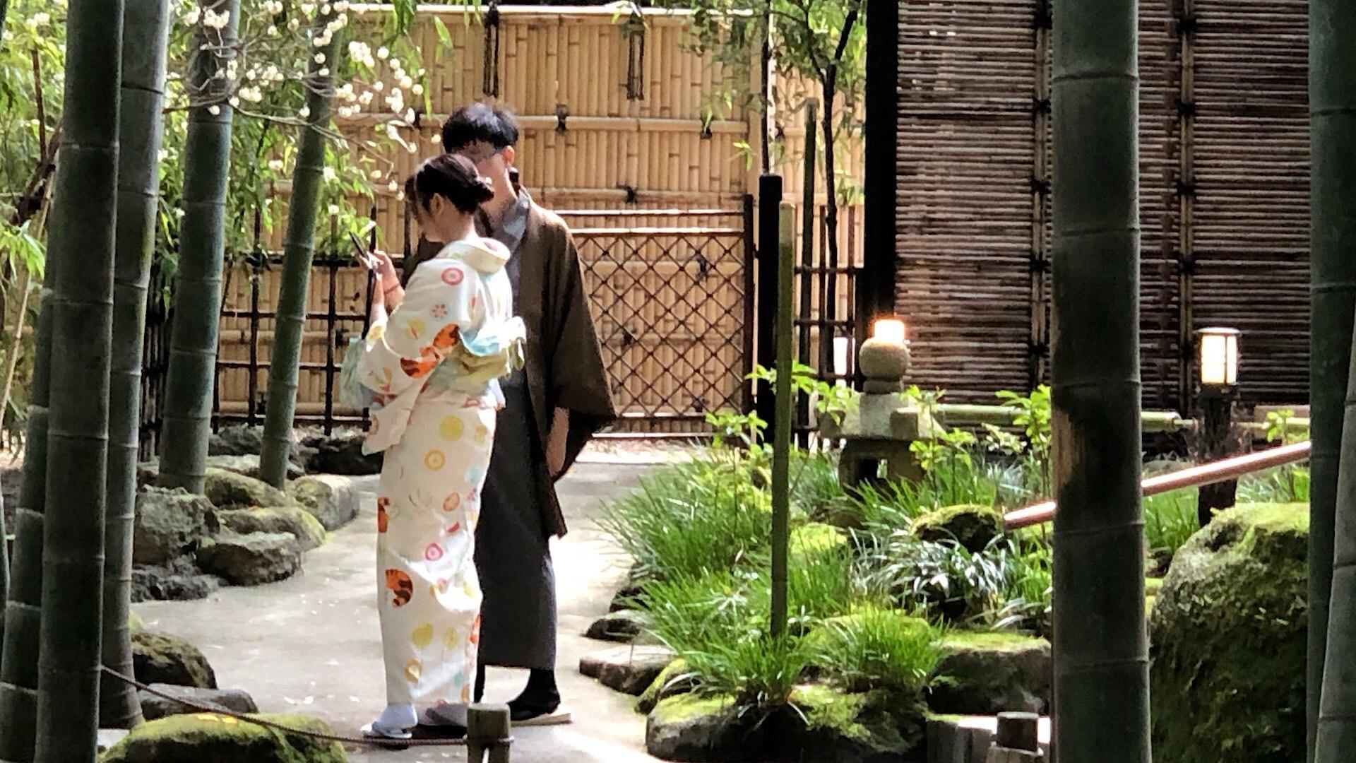 Pärchen im Kimono