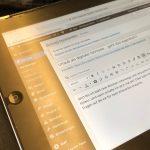 Bloggen und arbeiten am iPad